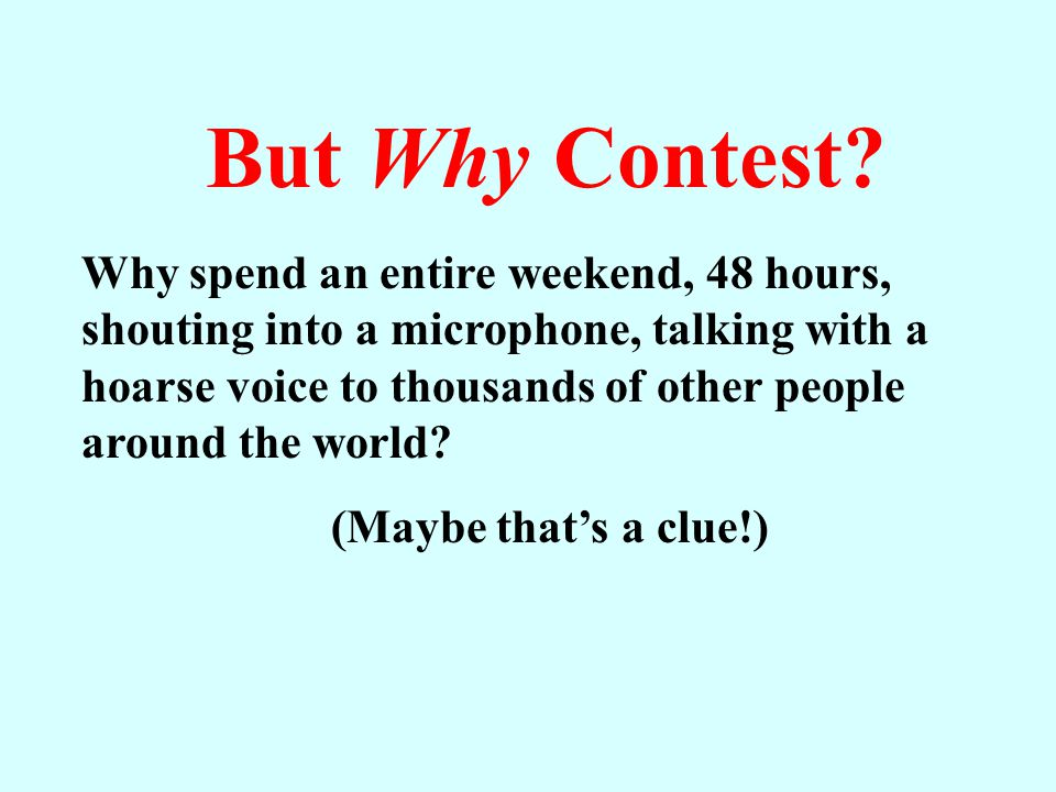 But Why Contest.
