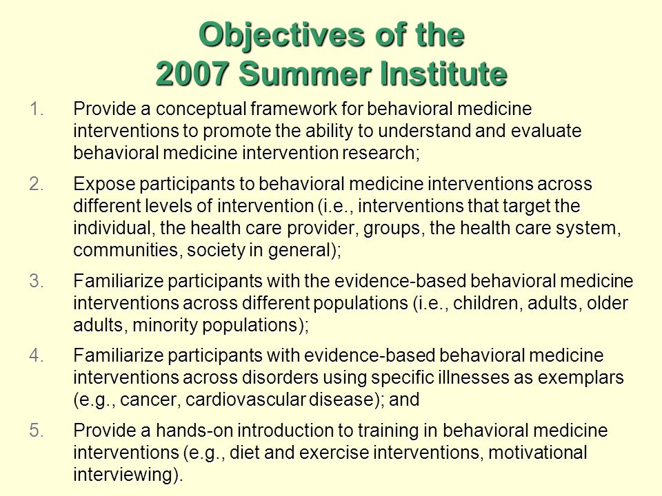 Who is attending the 2007 Summer Institute.