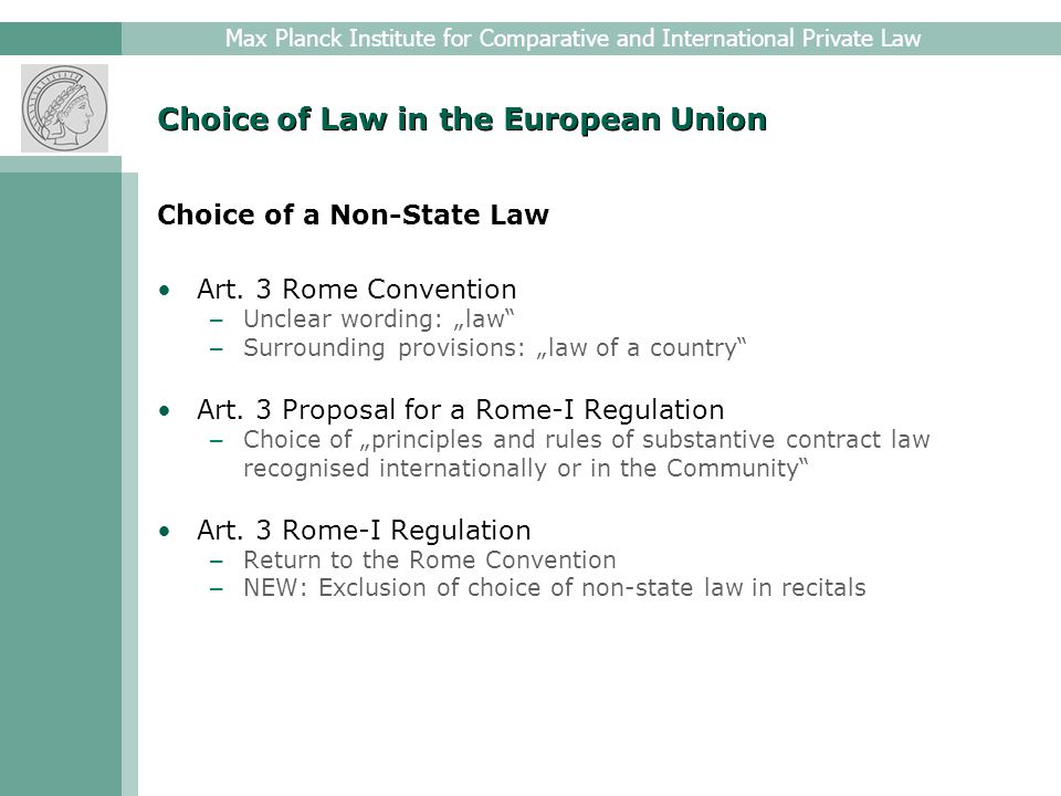 Max Planck Institute for Comparative and International Private Law Choice of Forum in the European Union From the Brussels Convention to the Brussels-I Regulation Brussels Convention (1968) – International treaty – Art.