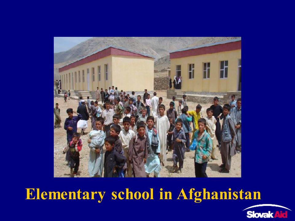 Elementary school in Afghanistan