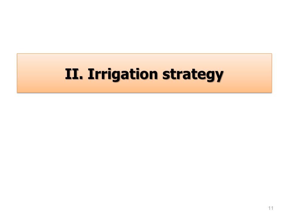 11 II. Irrigation strategy