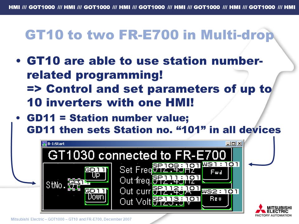 HMI /// GOT1000 /// HMI /// GOT1000 /// HMI /// GOT1000 /// HMI /// GOT1000 /// HMI /// GOT1000 /// HMI Mitsubishi Electric – GOT1000 – GT10 and FR-E7