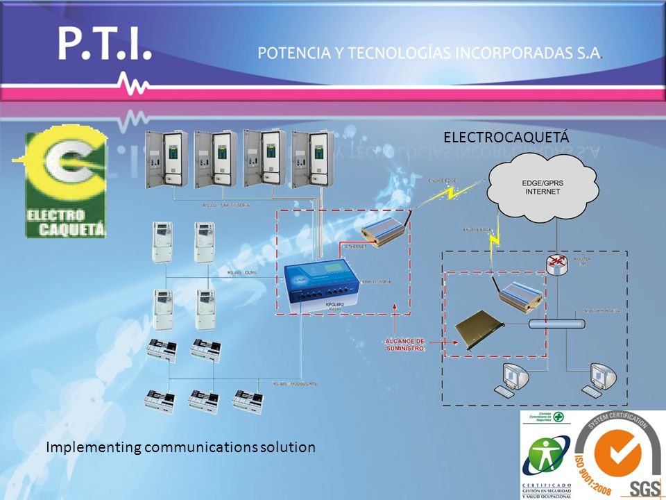 Implementing communications solution ELECTROCAQUETÁ