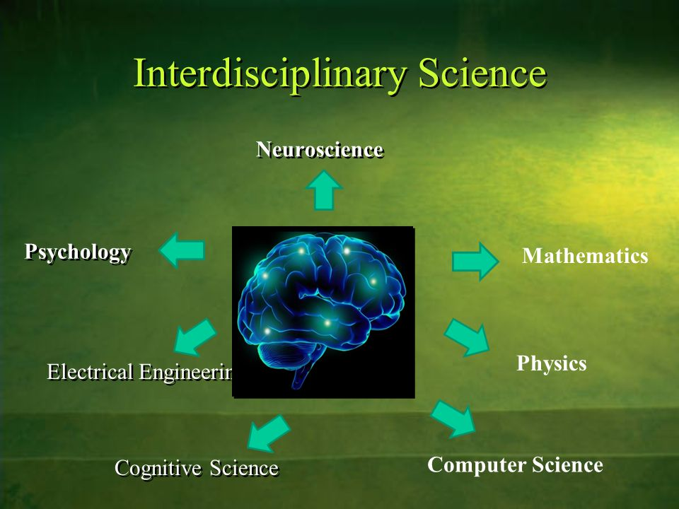 Interdisciplinary Science Neuroscience Electrical Engineering Psychology Mathematics Physics Cognitive Science Computer Science