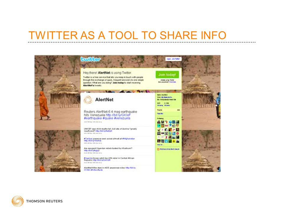 TWITTER AS A TOOL TO SHARE INFO