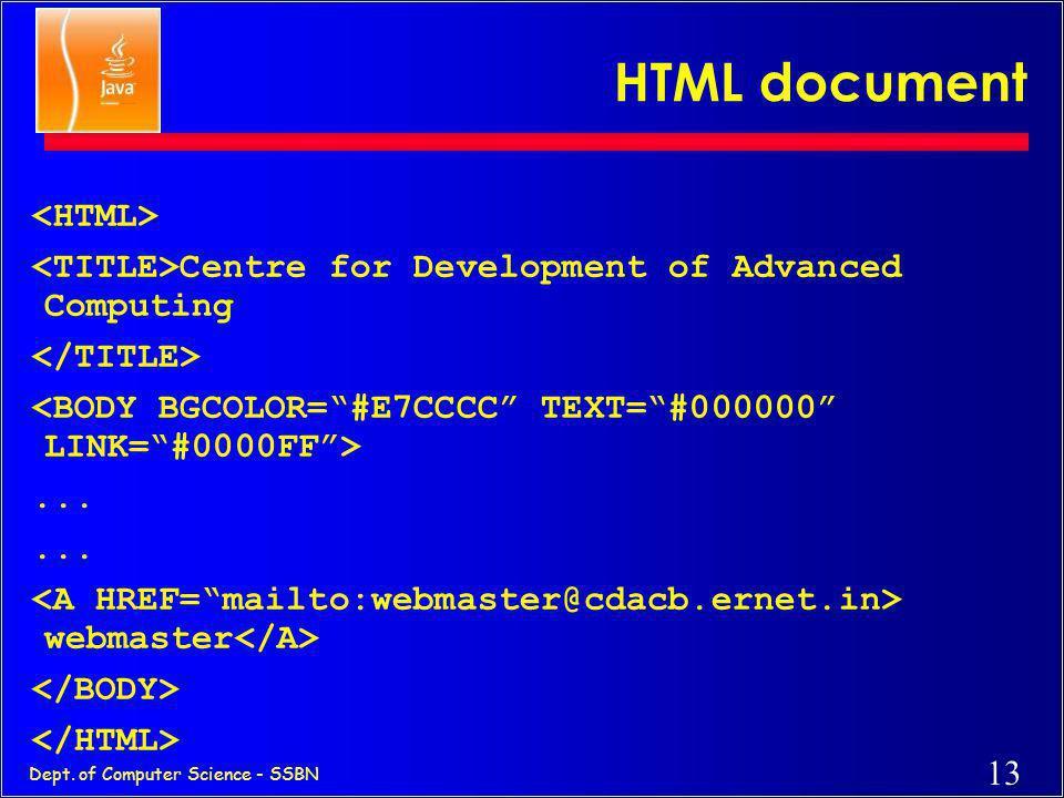 "12 Dept. of Computer Science - SSBN HTTP Send the ""INFORMATION ABOUT C-DAC ACTS"" The information about C-DAC ACTS The client sends an HTTP message to"