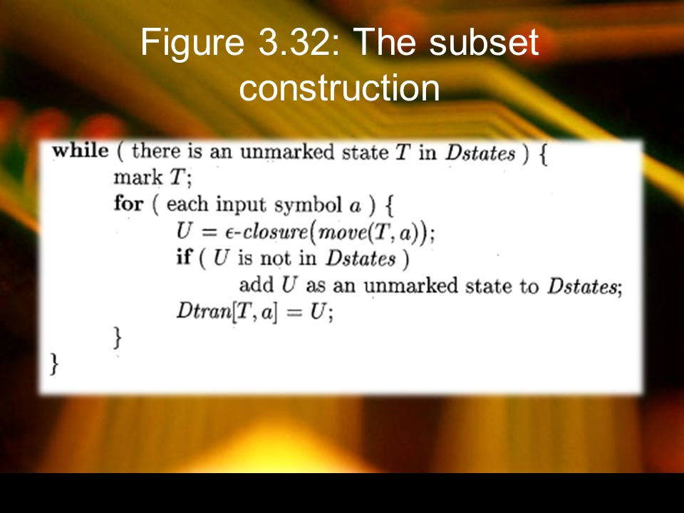 Figure 3.33: Computing E- closure(T)