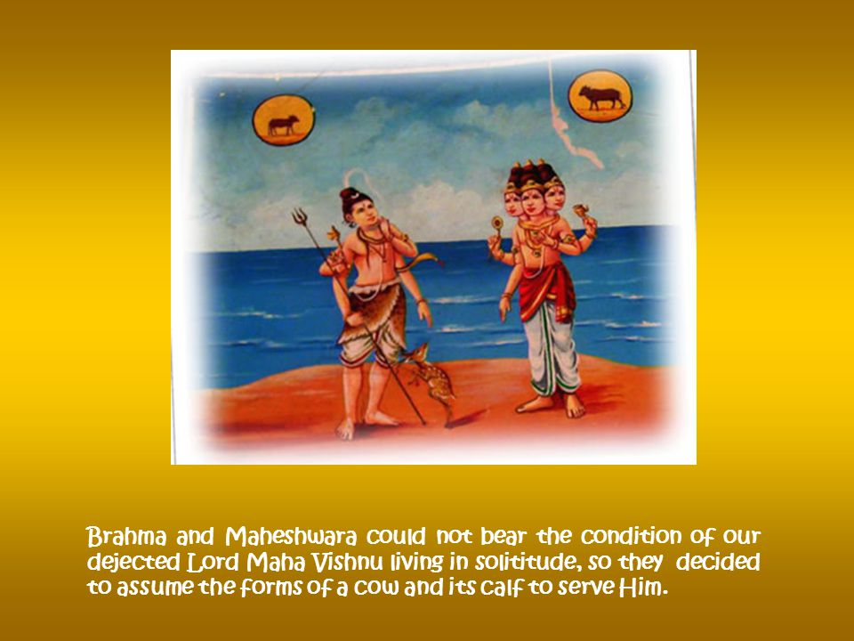 Then Srinivasa chose a site and stayed close to Varaha Swami Temple.