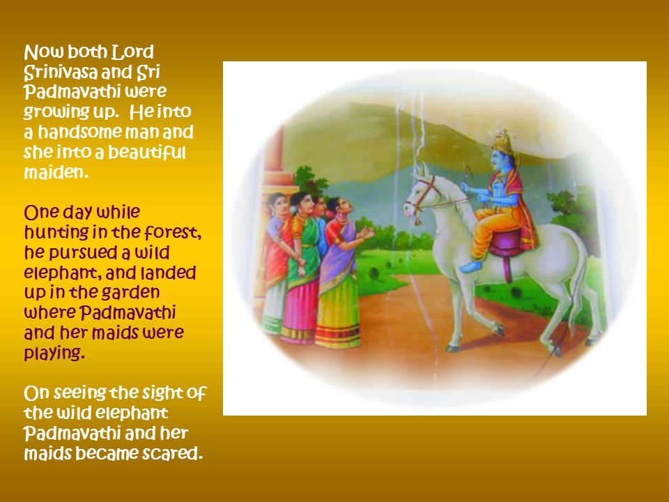 Lo and Behold! Our Lord Srinivasan rose from the Ant Hill and cursed the King saying