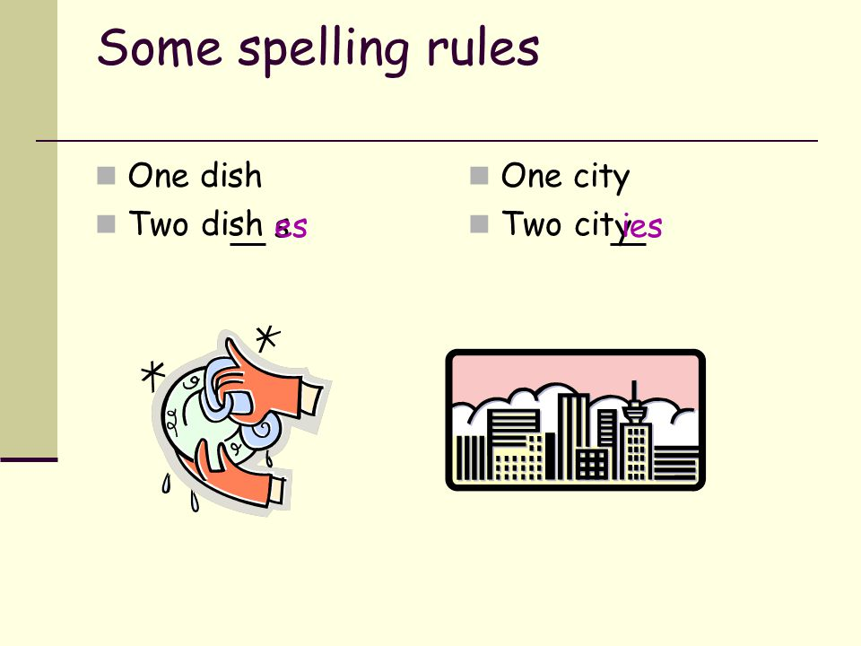Let's look at countable nouns Singular (= 'one') Rule 1: a/an + noun a book an assignment a child Rule 2: one + noun one page Plural (= 'more than one
