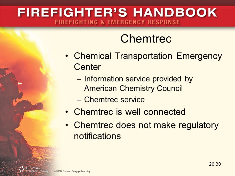 Chemtrec Chemical Transportation Emergency Center –Information service provided by American Chemistry Council –Chemtrec service Chemtrec is well conne
