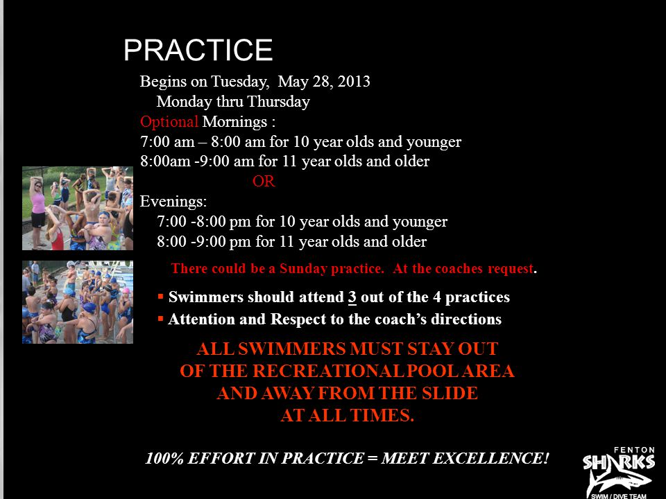 PRACTICE  The rainout information on the web page.