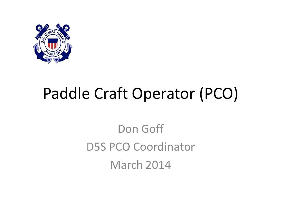 Paddle Float Self Rescue Assisted Rescue Prepared by Don Goff, PCO Coordinator12