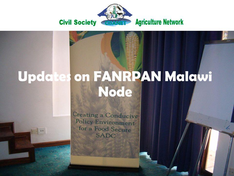 Updates on FANRPAN Malawi Node