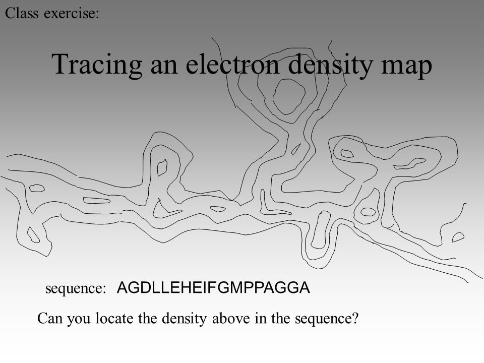 Tracing an electron density map sequence: AGDLLEHEIFGMPPAGGA Can you locate the density above in the sequence.