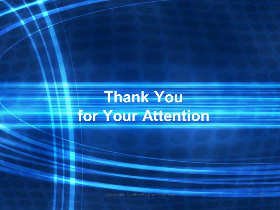 Aleksandar Kovačević & Mina Mićanović95 Thank You for Your Attention