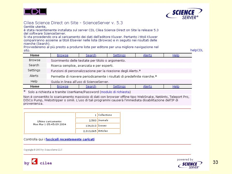 CDL - CILEA DIGITAL LIBRARY33