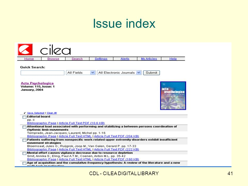 CDL - CILEA DIGITAL LIBRARY41 Issue index