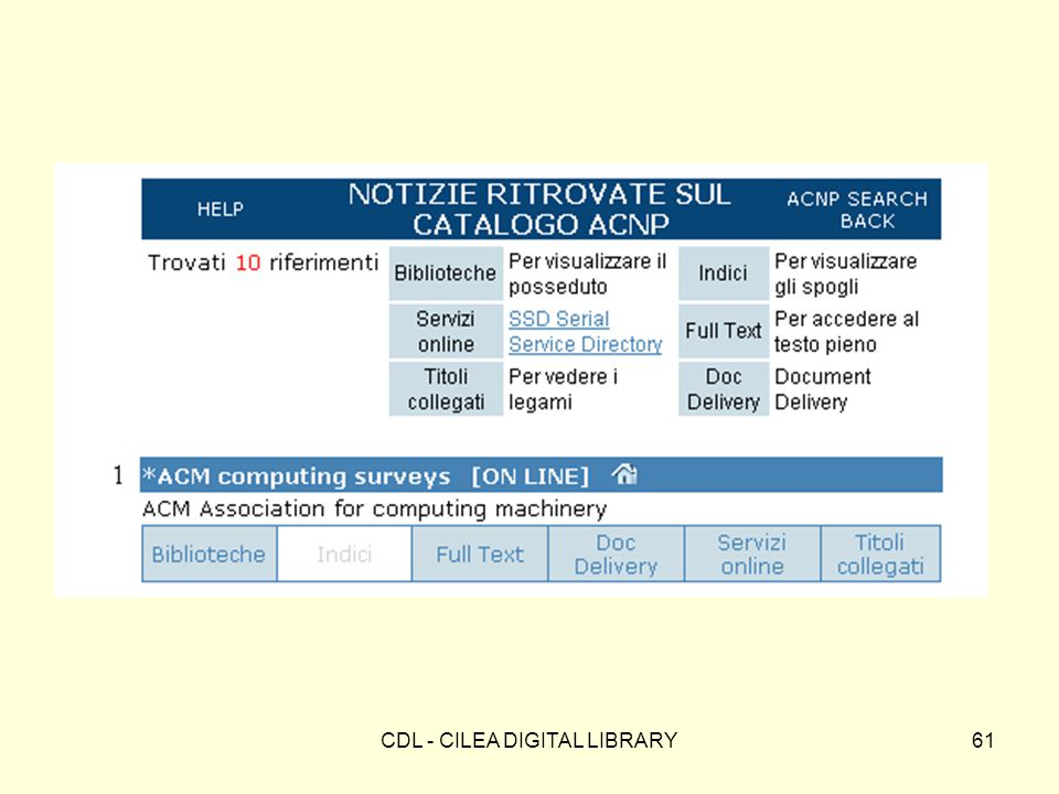 CDL - CILEA DIGITAL LIBRARY61