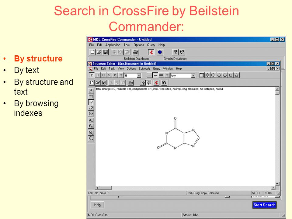 CDL - CILEA DIGITAL LIBRARY72 Search in CrossFire by Beilstein Commander: By structure By text By structure and text By browsing indexes