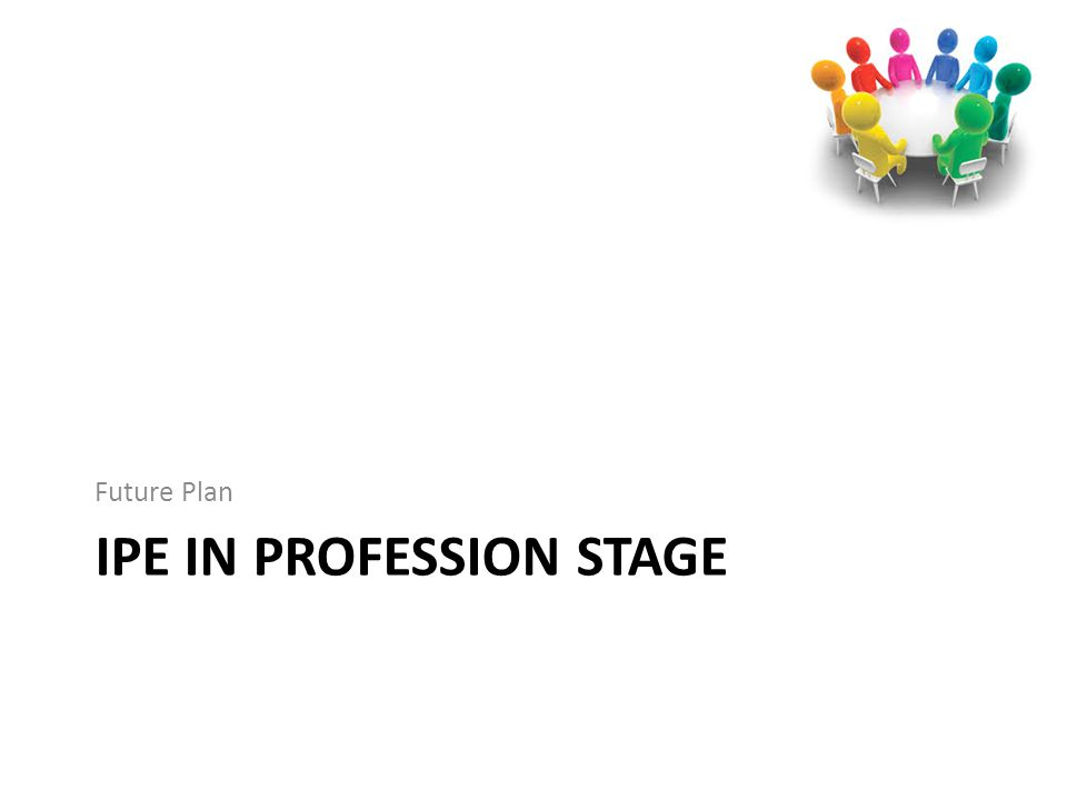 IPE IN PROFESSION STAGE Future Plan