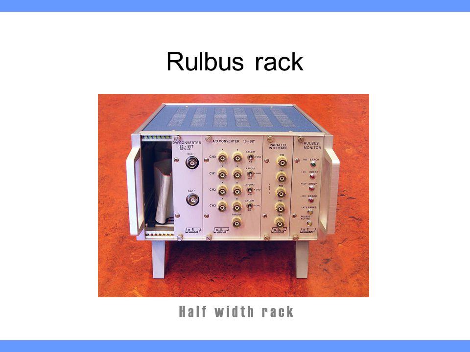 Rulbus rack H a l f w i d t h r a c k