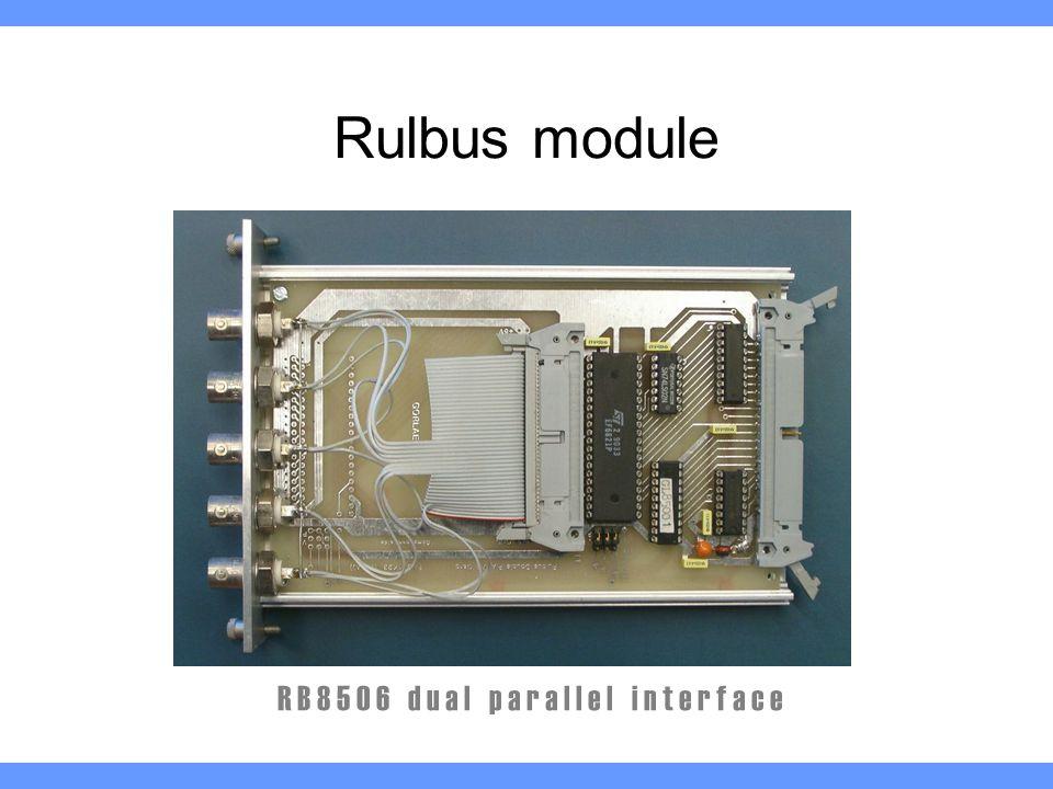 Rulbus module R B 8 5 0 6 d u a l p a r a l l e l i n t e r f a c e