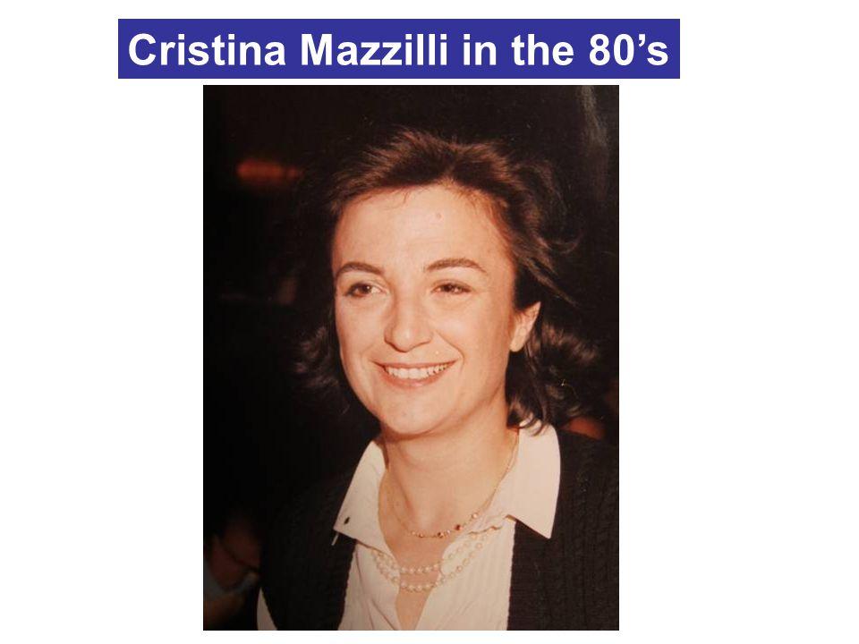 Cristina Mazzilli in the 80's