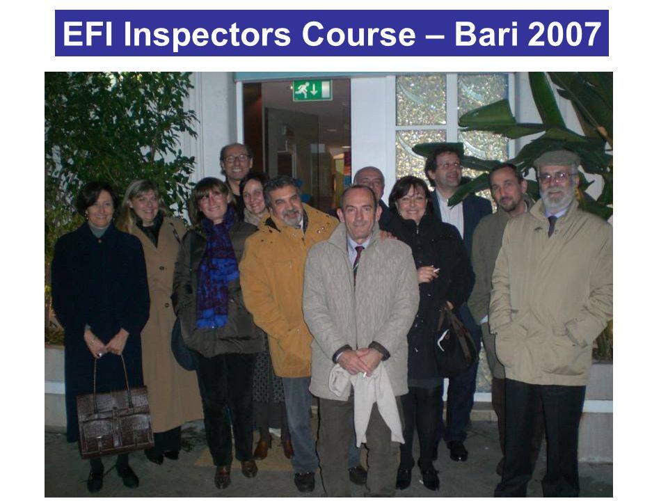 EFI Inspectors Course – Bari 2007
