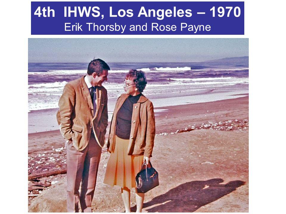 4th IHWS, Los Angeles – 1970 Erik Thorsby and Rose Payne