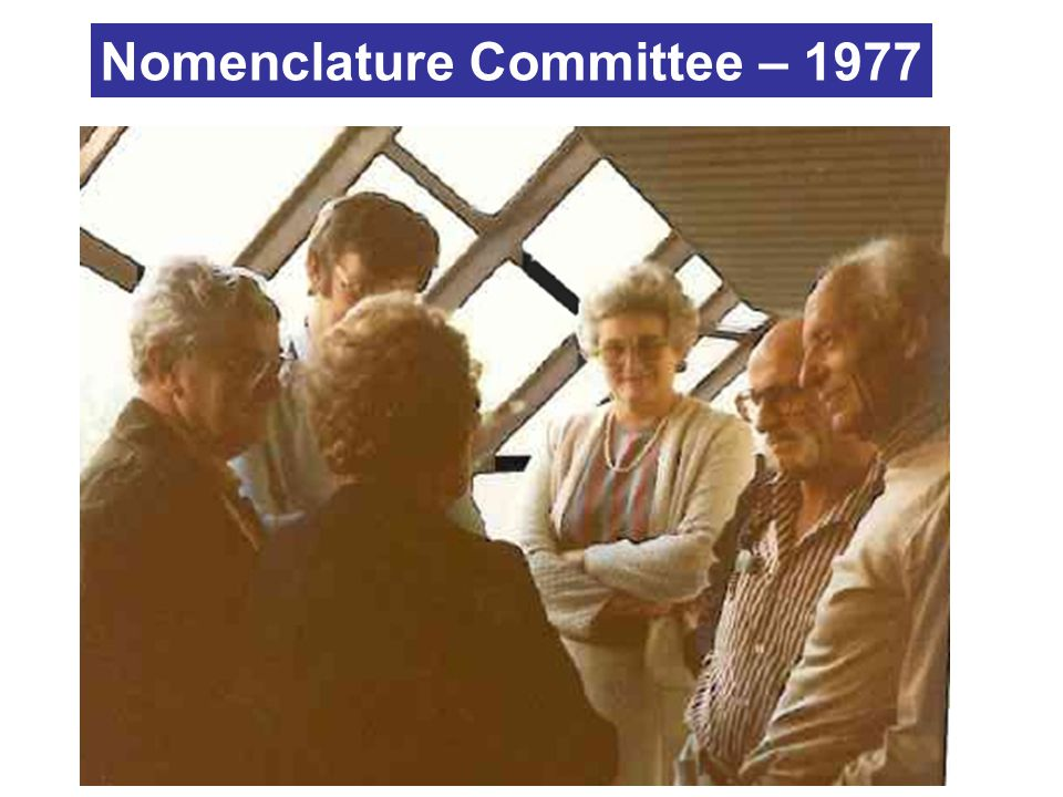 Nomenclature Committee – 1977