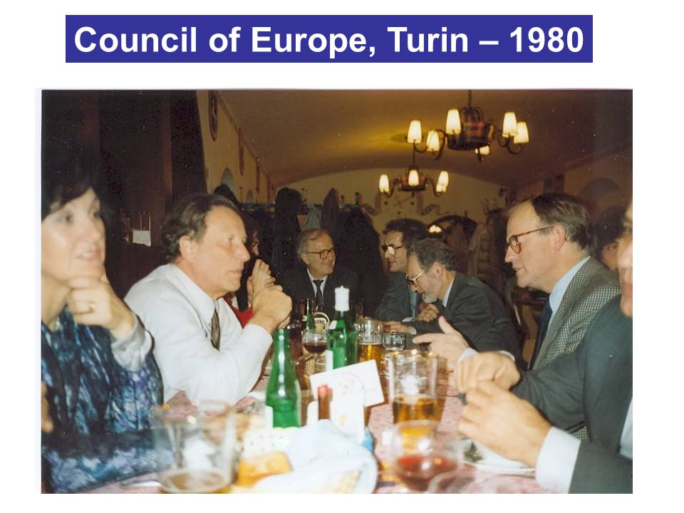 Council of Europe, Turin – 1980