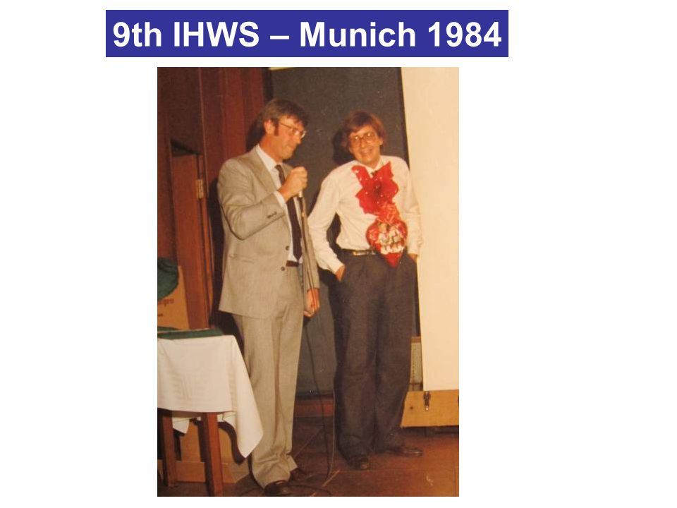 9th IHWS – Munich 1984