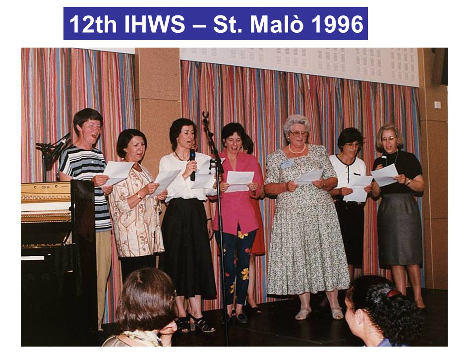 12th IHWS – St. Malò 1996