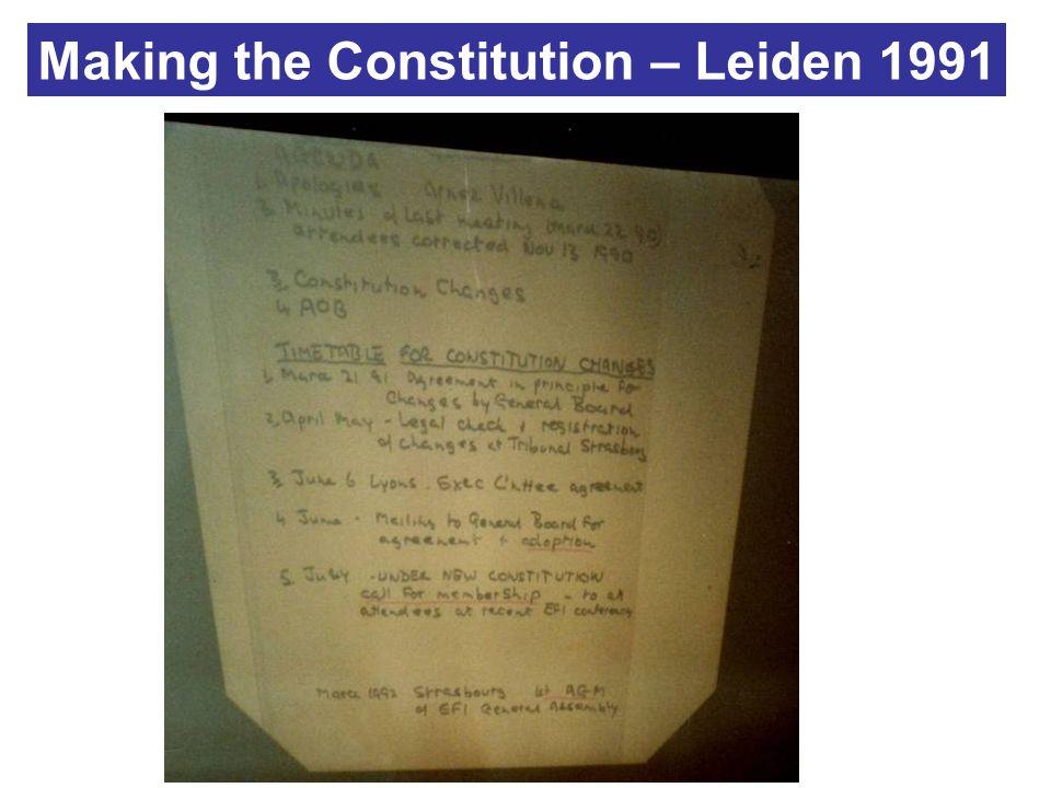 Making the Constitution – Leiden 1991