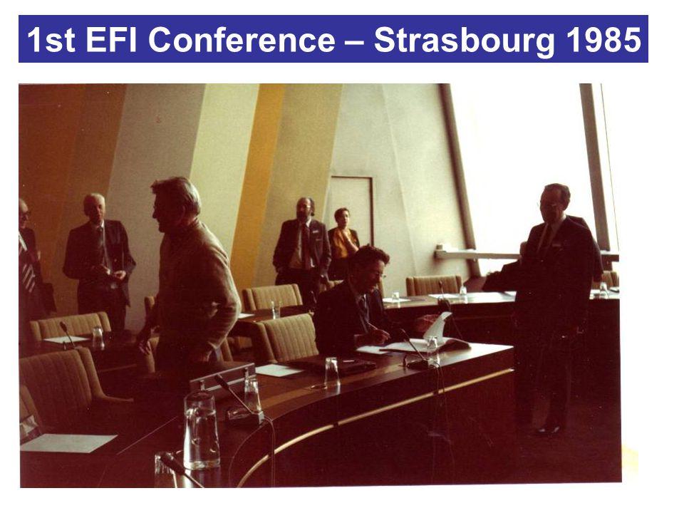 1st EFI Conference – Strasbourg 1985
