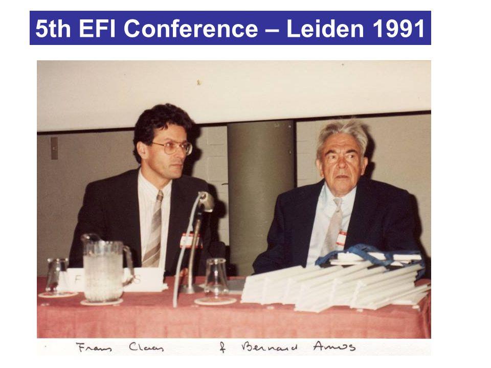 5th EFI Conference – Leiden 1991