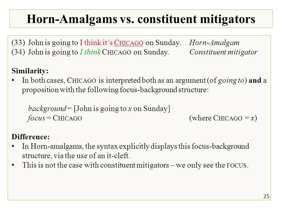 25 Horn-Amalgams vs.