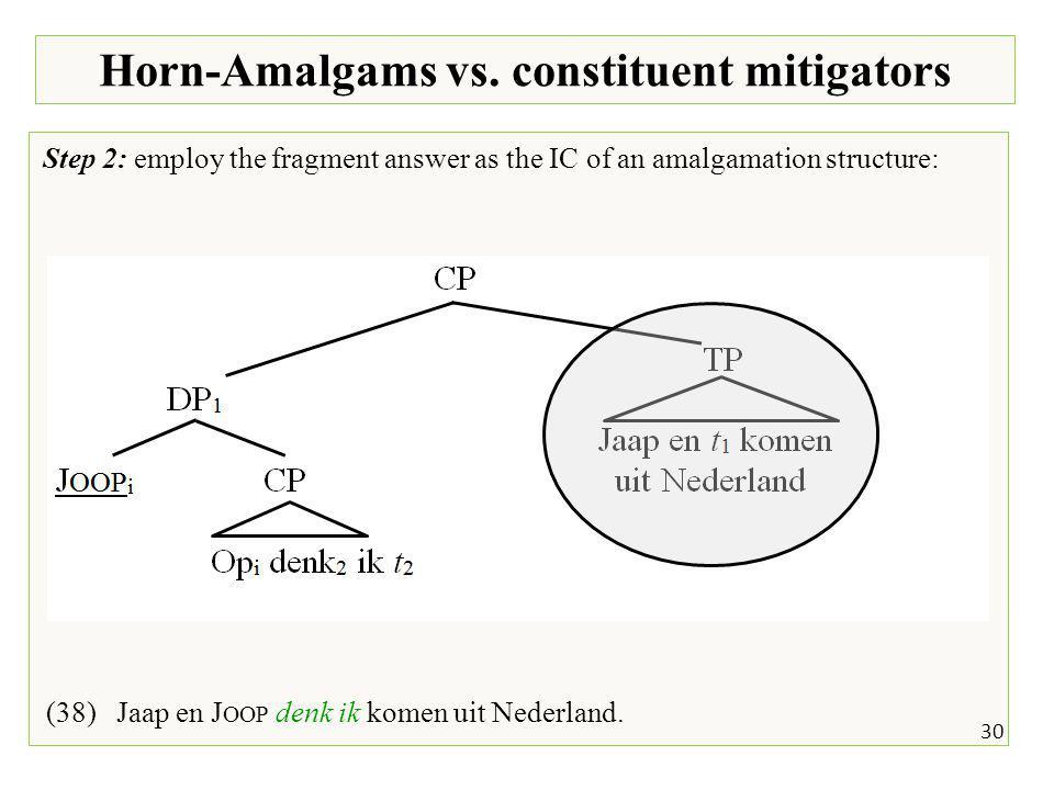 30 Horn-Amalgams vs.