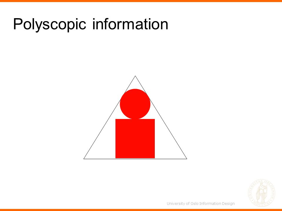 Polyscopic information University of Oslo Information Design