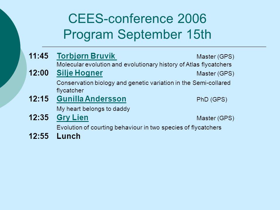 11:45Torbjørn Bruvik Master (GPS)Torbjørn Bruvik Molecular evolution and evolutionary history of Atlas flycatchers 12:00Silje Hogner Master (GPS)Silje