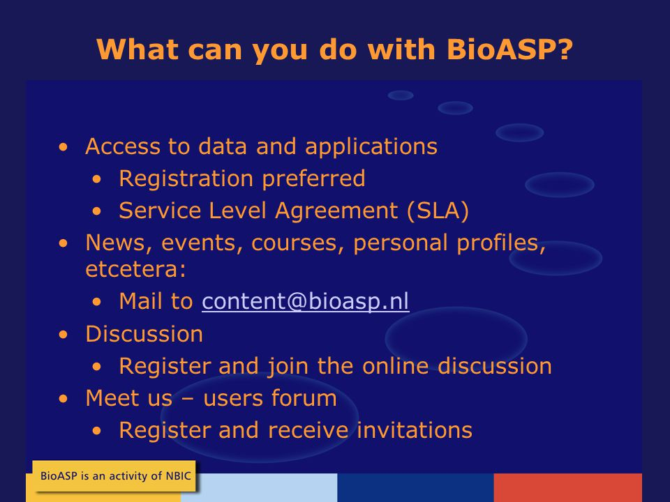 What can you do with BioASP.