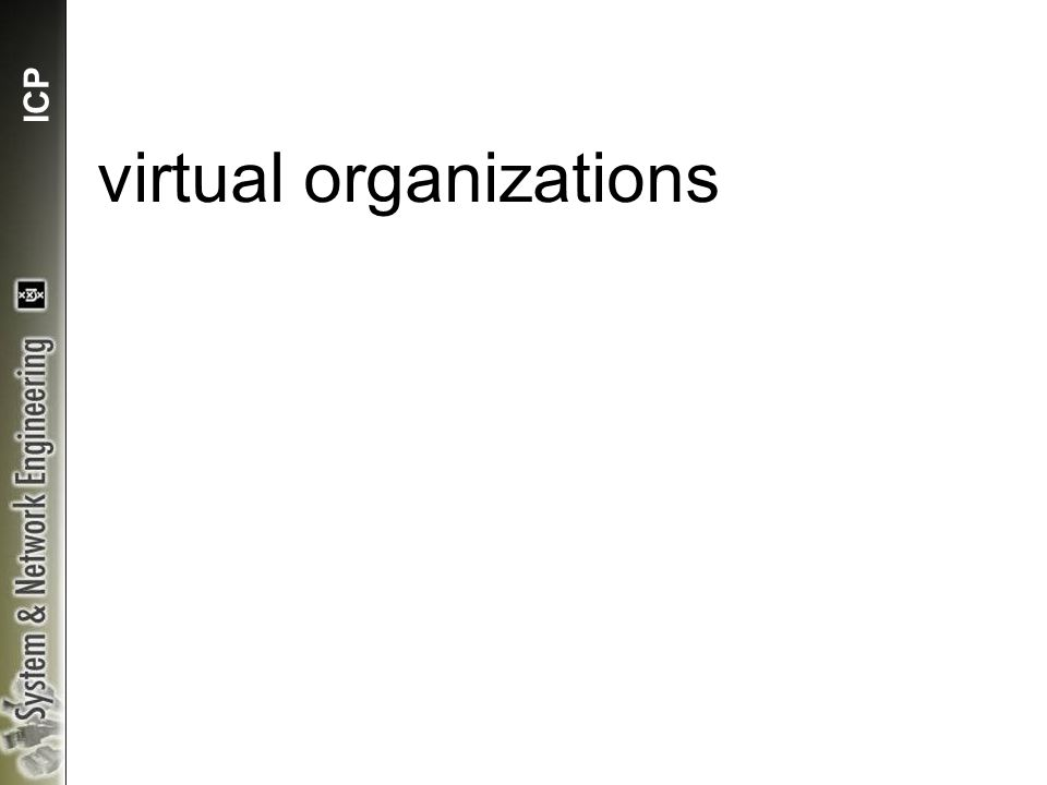 ICP virtual organizations