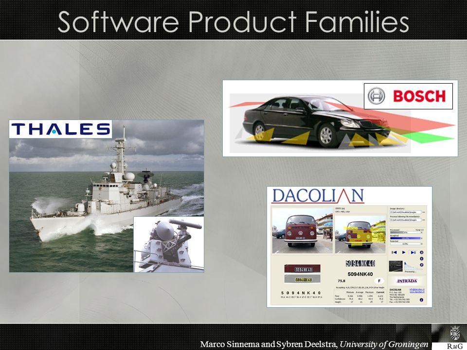 Marco Sinnema and Sybren Deelstra, University of Groningen Software Product Families