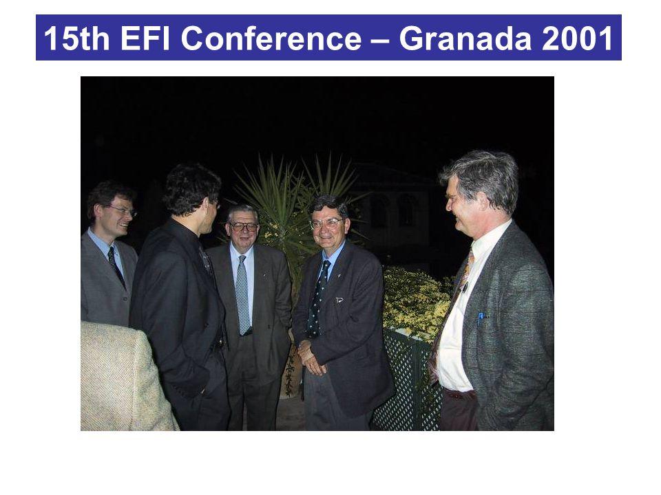 15th EFI Conference – Granada 2001