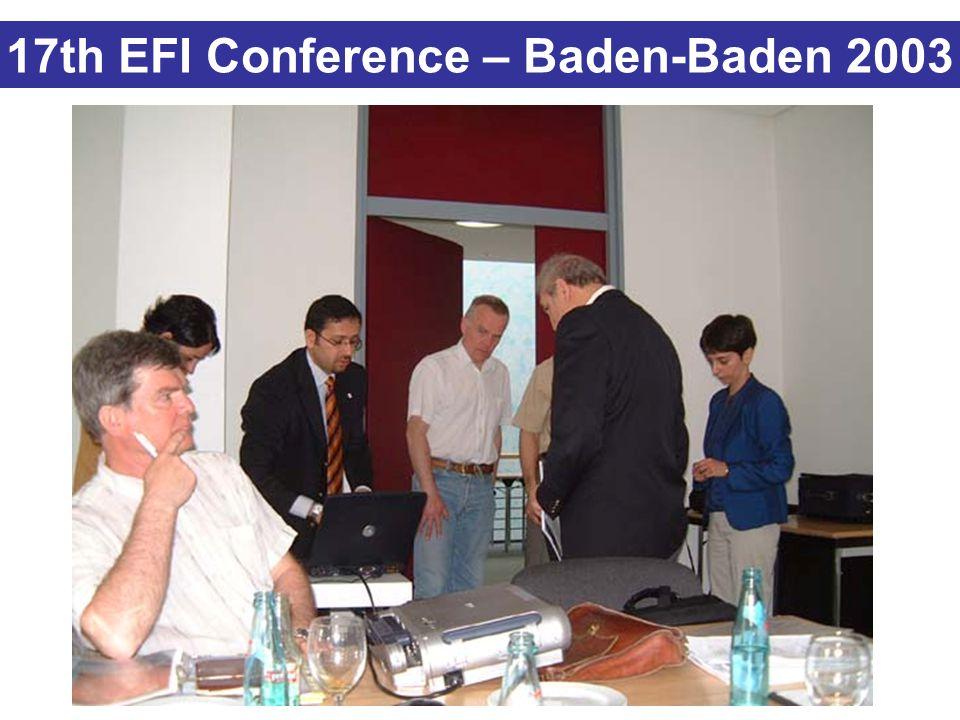 17th EFI Conference – Baden-Baden 2003