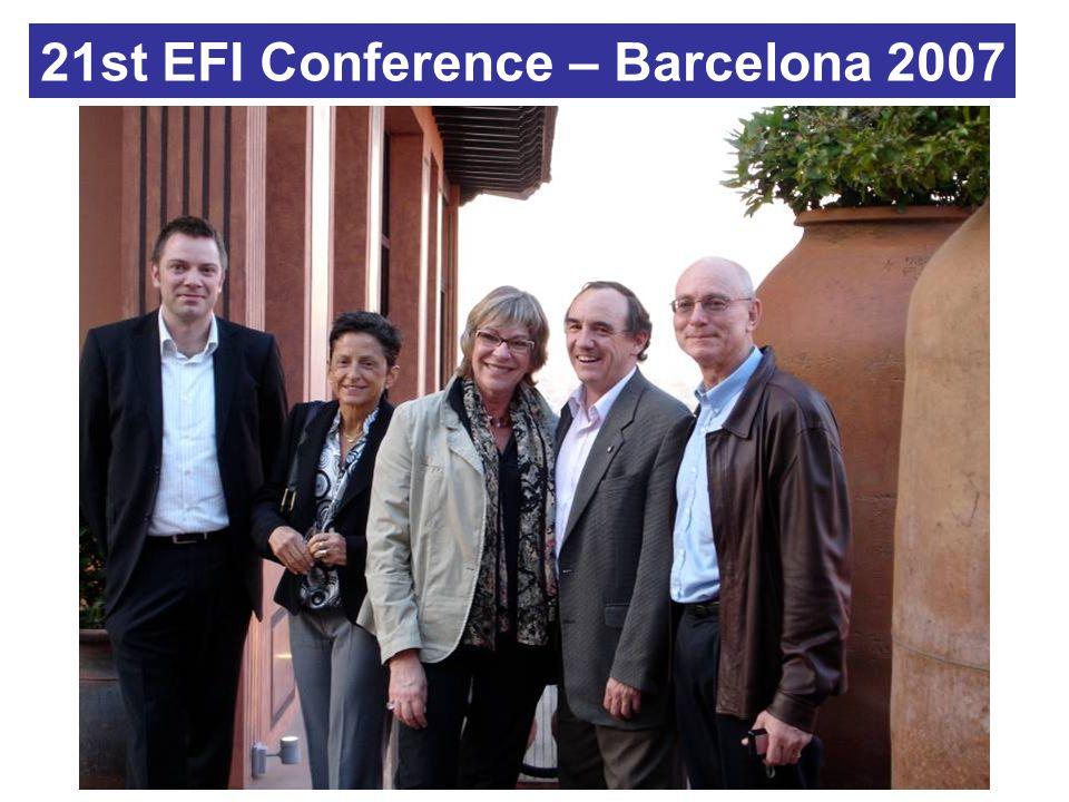 21st EFI Conference – Barcelona 2007