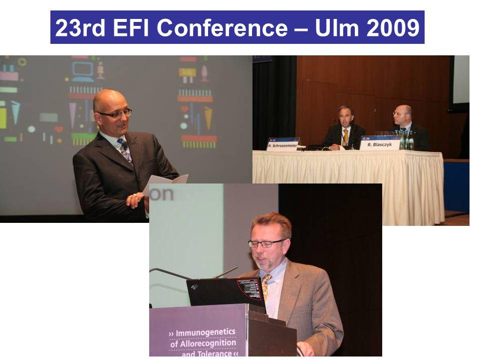 23rd EFI Conference – Ulm 2009