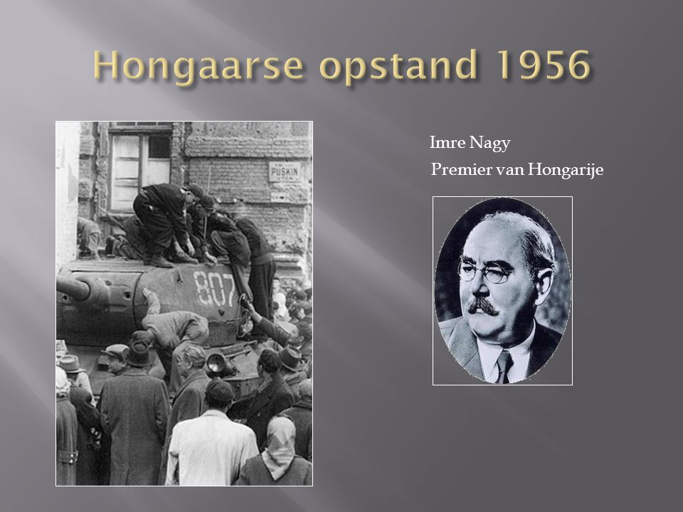 Imre Nagy Premier van Hongarije