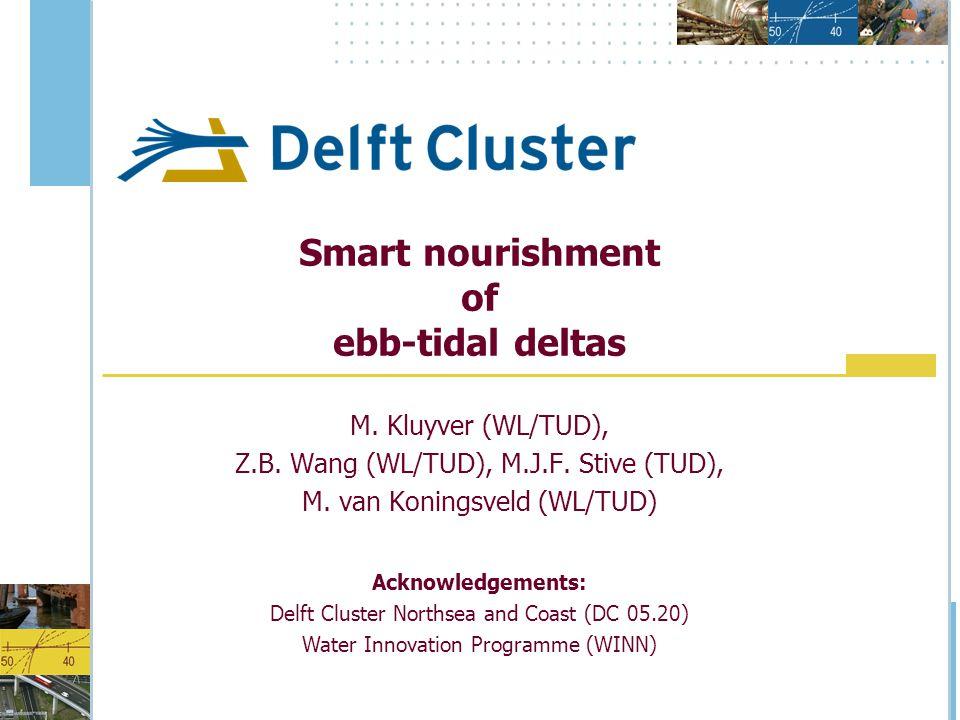 Smart nourishment of ebb-tidal deltas M. Kluyver (WL/TUD), Z.B.